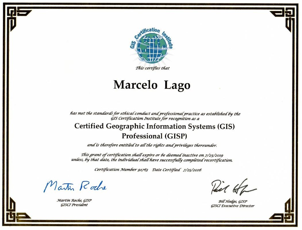 Certifications lago consulting services llc gis professional gisp xflitez Gallery