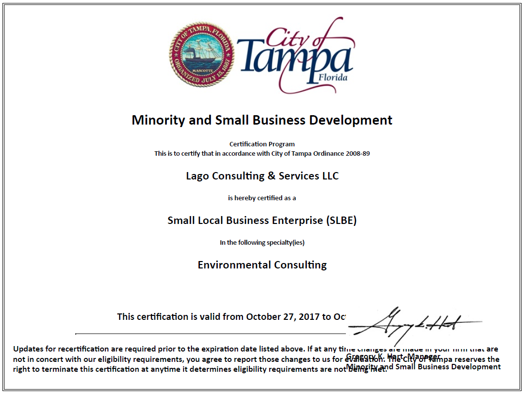 Certifications lago consulting services llc picture xflitez Gallery